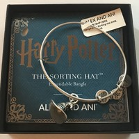 Alex and Ani Harry Potter Sorting Hat Charm Bangle Silver Finish New