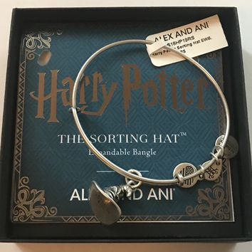 Alex Ani Harry Potter Sorting Hat Charm Bangle Silver Finish New