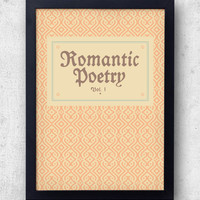 Romantic Poetry Vol 1 print, inspired by The Grand Budapest Hotel  -  Wes Anderson, Zubrowka, ralph fiennes, loby boy