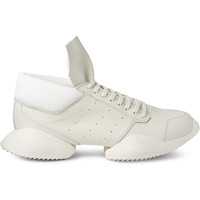 Rick Owens - + adidas Ro Runner Leather Sneakers