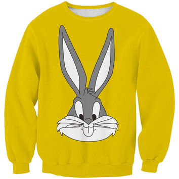 Lovely Stylish Cute Pullover Rabbit Fashion Print Women's Fashion Hoodies = 4817362116