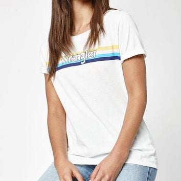 Wrangler x PacSun Rainbow Stripe T-Shirt at PacSun.com