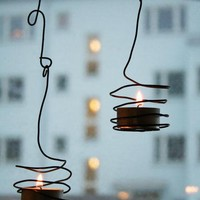 DIY Wired Outdoor Tea Light Holders   Shelterness