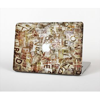 "The Faded Torn Newspaper Letter Collage Skin Set for the Apple MacBook Pro 15"" with Retina Display"
