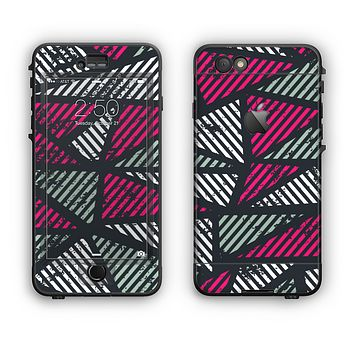 The Abstract Striped Vibrant Trangles Apple iPhone 6 Plus LifeProof Nuud Case Skin Set