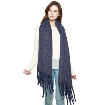Soft Brushed Oversized Scarf with Fringe