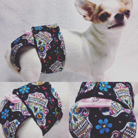 Sugar Skulls Day Of The Dead Female Girl Dog Diapers – Group One Dog Gallery ®