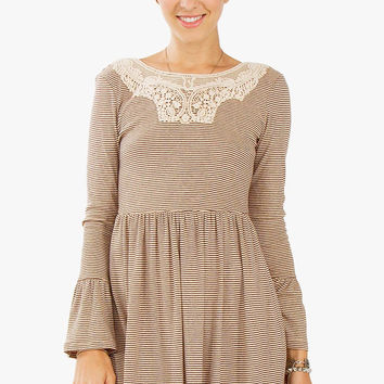 Neutral Story Dress-L