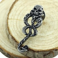 2017 Slytherin Snake brooch in Brooches badge pin Deadpool Safety Pins Women clothes Accessories for men women bijouterie