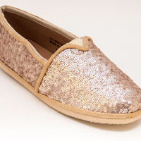 Small Sequin Slip on Shoes