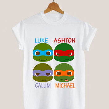 American apparel shirt luke, ashton,calum, michael, 5 second of summer, t shirt mens and woman by KerisPutih Available Size : S,M,L,XL,XXL