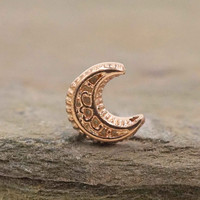 Moon Rose Gold Nose Ring Nose Stud