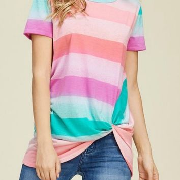 Fiona Fuchsia Striped Top