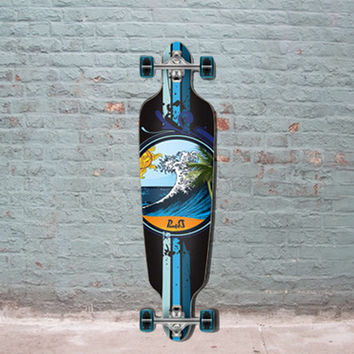 "Drop Through Longboard Wave 40"" Graphic from Punked"