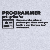 The Definition of a Programmer Funny Novelty T Shirt Z12080