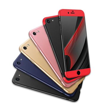 3 in 1 Knight Armor Full body Protection Cover For funda iPhone 6S 7 8 Plus 360 Case+9H Tempered Glass For iphone 8 Hybrid Case