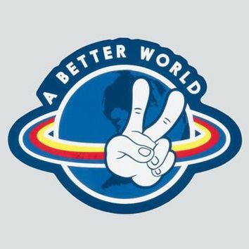 Peace Around the World Sticker