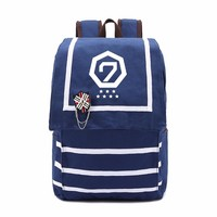 GOT7 EXO BIGBANG  cute bag Rucksacks backpack teenagers Men women's Student School Bags travel Shoulder Bag Laptop Bags