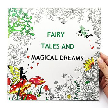 1 PCS New 24 Pages 25*25cm English Coloring Books For Kids And Adults Painting Book Fairy Tale Adult Painting Drawing Book