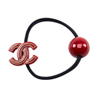 Chanel Red Hair Tie
