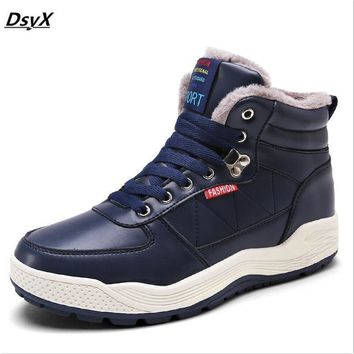 dsyx very warm winter shoes men's casual shoes and fur insulated clothes warm suede boots remove Zapatos Hombre large yards 39-4