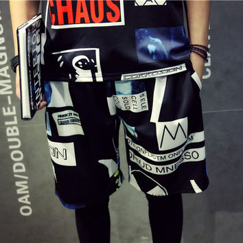 Summer Shorts Men Korean Beach Pants 3D Cotton Sportswear [6541164419]