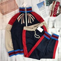 GUCCI2018 latest chest butterfly sports suit