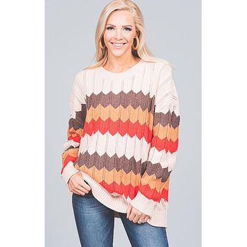 Fall Chevron Sweater