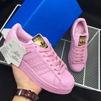 Originals Adidas Superstar Women's Pink Classic Sneaker Sprot Shoes