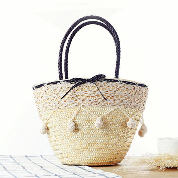 Stylish Lovely Lace Beach Tote Bag [6580680583]