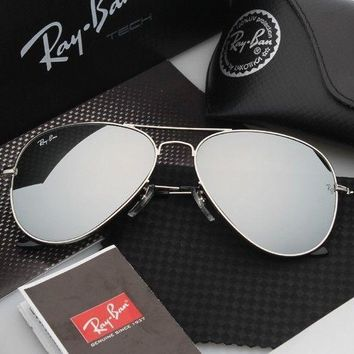 Brand new aviator RAY-baN sunglasses Silver/Silver Mirror Lens 58mm