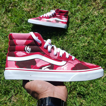 Custom Painted Bape Camo Vans