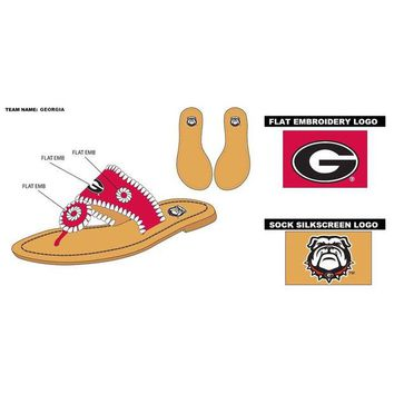 DCCKG8Q NCAA Georgia Bulldogs Whipstitch Sandals