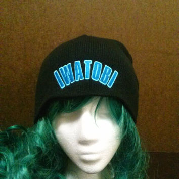 Anime and manga inspired Free! Iwatobi Swim Club swimming anime embroidered beanie skull cap