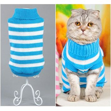 NEW Candy Stripe Cat Sweater