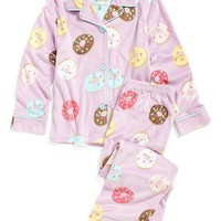 Girl's PJ Salvage 'Donut' Two-Piece Pajamas,