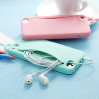 MagicPieces 3D Cute Whale Soft Silicone Case Cover For iPhone 4/4S Mint