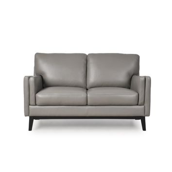 Osman Mid-Century Loveseat Dark Grey