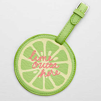 Aerie Luggage Tag, Lime