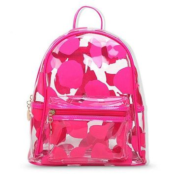 Clear Backpacks popular AEQUEEN Women Transparent Clear Backpack Female Summer Jelly Shoulder Bag Schoolbag For Teenage Girl Satchel Candy Color Mochila AT_62_4