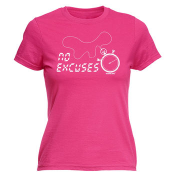 Personal Best Women's No Excuses Stopwatch Design Running T-Shirt