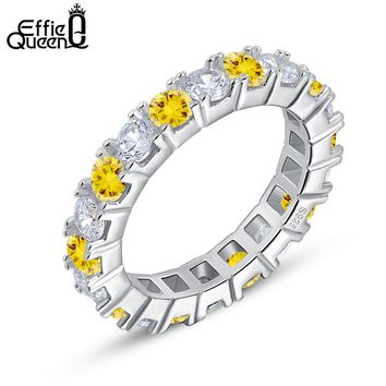Effie Queen Eternity Ring Popular Christmas Gift to Girls Fashion Austrian Zircon Ring for Women Daily Wear DR60
