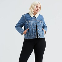 Sherpa Trucker Jacket (plus Size) - Medium Wash | Levi's® US