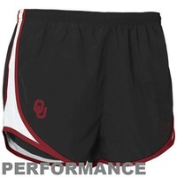 Nike Oklahoma Sooners Ladies Black Dri-FIT Tempo Performance Training Shorts
