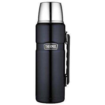 Thermos Stainless King Vacuum Insulated Beverage Bottle - 40 oz. - Stainless Steel-Midnight Blue [SK2010MBTRI4]
