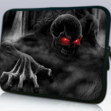 "15"" Red Eye Skull Laptop Notebook Soft Sleeve Case For 15.6"" HP Pavilion G6 DV6 M6,Dell,Acer,Toshia"