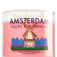 3-Wick Candle Amsterdam Tulips & Windmills