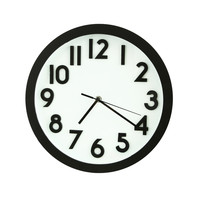 Furnistar Black Rim Basic Round Wall Clock CK0078