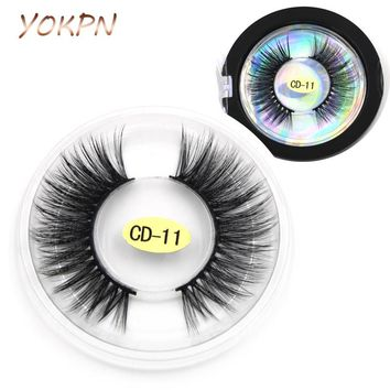 YOKPN 0.07 Handmade False Eyelashes 3D Multi-layer Cross Natural Long Eye Lashes Sexy Stage Makeup Tips Thick Fake Eyelashes
