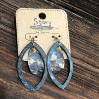 Marquise Patina Drop Earrings